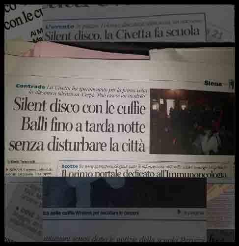 Articolo Silent Disco Toscana